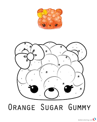 Orange Sugar Gummy From Num Noms Coloring Pages Printable Coloring