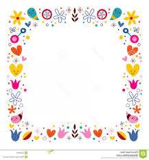 colorful frame border design. Stock Illustration Nature Love Harmony Flowers Abstract Art Vector Frame Border Design Element Image Colorful D