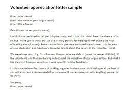 Volunteer Letter Samples Volunteer Appreciation Letter Sample Fotolip