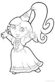 Coloring Pages Of Dora Coloring Pages Sheets Printable Page Princess