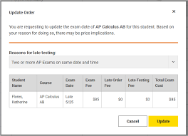 College Board Seating Chart How Do I Request Late Testing Ordering Help Ap Central