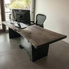 custom office desks. Plain Custom Custom Office Desk Made Live Edge Black With Idea 6 In Desks B