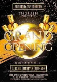 Free Grand Opening Flyer Template Grand Opening Psd Flyer Template 16671 Styleflyers