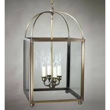 glass lantern chandelier antique copper bell jar flushmount