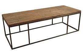 Attractive Wood Plank Coffee Table With Steel Frame Nice Look
