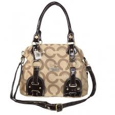 Coach Madison In Monogram Medium Khaki Satchels BOL