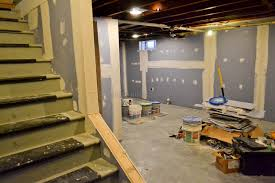 incredible putting up drywall in a basement le