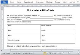Protect Both Parties With Bill Of Sale Document Bill Of