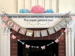 Boy Or Girl Baby Announcement Bows Or Arrows Gender Reveal Baby Shower Decorations Boy