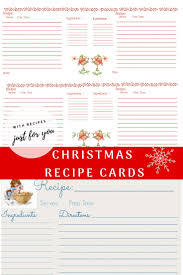 Printable Christmas Recipe Cards Printable Christmas Recipe Cards Faith Filled Food For Moms