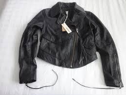 authentic new sel women s black leather jacket retails 750 size xs
