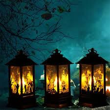 Halloween Desktop Decorative Led Lamp Castle Pumpkin Graveyard