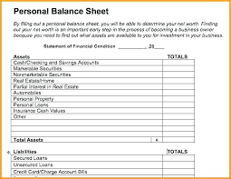 Personal Financial Statement Templates Forms Template Lab
