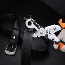 heavy duty leather belt hole punch plier eyelet puncher revolve sewing machine bag setter tool watchband