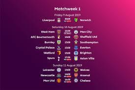 Premier League fixtures for 2019/20 announced