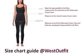 Bust Size Chart Women Size Chart Guide For Women Clothing Westoutfit Com