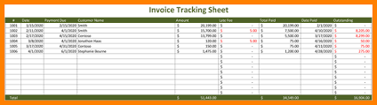 9 Excel Template Invoice Tracking Gospel Connoisseur