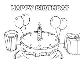 Tuyển tập tranh tô màu bánh sinh nhật cho bé – Tranh Tô Màu cho bé