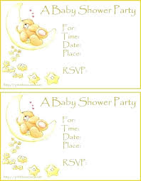 The Pooh Online Invitations Free Printable Baby Shower