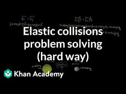 Solving elastic collision problems the hard way (video) | Khan ...