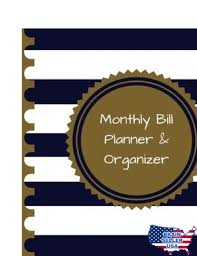 Monthly Bill Organizer Book Monthly Bill Planner And Organizer Budget Planning