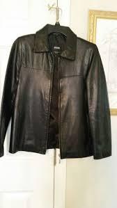 marzo black leather jacket medium size covington