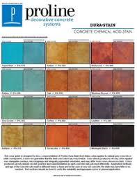 Concrete Floor Color Chart Acid Stain Color Charts