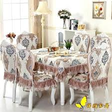 enchanting dining table chairs covers chair dining table chair covers elegant luxurious round dining table cloth