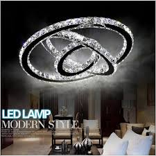silver crystal ring led chandelier crystal lamp light lighting fixture modern led circle light used for