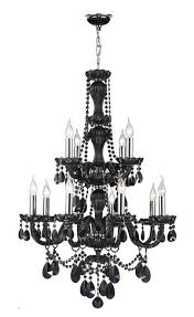 provence collection 12 light chrome finish and black crystal chandelier 28 d x 41