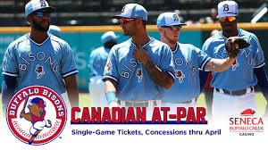 Buffalo Bisons Field Seating Chart Bisons To Accept Canadian Money At Par For Purchase Of