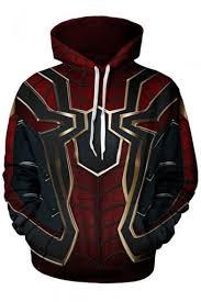 Popular <b>Avengers</b> 3 <b>Spider</b>-<b>Man Print</b> Long Sleeve Red Pullover ...
