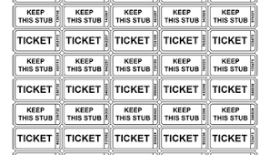 Raffle Ticket Templates Clipart Images Gallery For Free