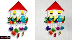 how to create home shape wall hanging art and craft ideas diy