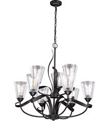 vaxcel h0187 cinta 9 light 32 inch oil rubbed bronze chandelier ceiling light photo