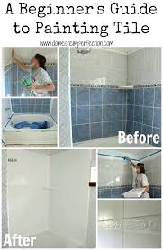 tutorial on refinishing a shower or bathtub paint bathroom tile over how to refinish outdated
