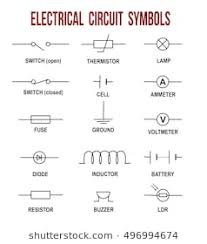 circuit diagram symbols images, stock photos & vectors shutterstock wiring diagram symbols cable electrical circuit symbols on white background (helpful for basic education & schools), vector