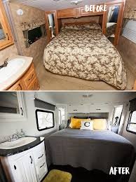 High Quality Bedroom Remodel Before And After The Rv Renovation Before Af With Before  After Renovations