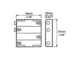 battery holders clips and snaps four aa battery holder dimensions of four aa battery holder