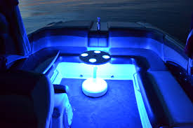 boat table with led light optional