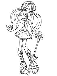 coloring page monster high draculaura for june pinterest