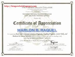 Example Of Certificate Of Recognition New Wording For
