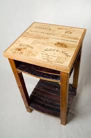 wine crate furniture. custom made wine crate and barrel stave island furniture