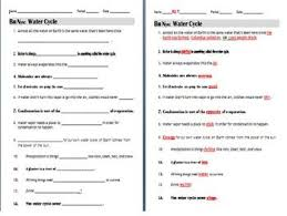bill nye nutrition worksheet bill nye water cycle video guide sheet