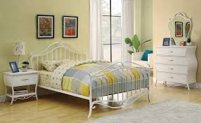 wrought iron bedroom furniture. Brilliant Furniture White Full Size Bedroom Sets With Wrought Iron Bed Frame Intended Furniture