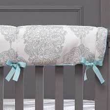 harper gray and turquoise fl crib bedding crib rail cover fl baby bedding crib rail