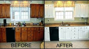 painted kitchen cabinets before and after pictures painted oak kitchen cabinets before and after painting oak