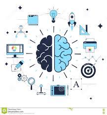 Design Process Brainstorming Concept Creative Design Process Stock Vector Illustration