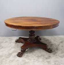 regency br inlaid rosewood centre table