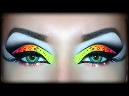 neon uv leopard print makeup tutorial y look